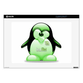 "Linux Mint with Tux Logo 15"" Laptop Decal"