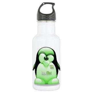 Linux Mint with Tux Logo 18oz Water Bottle
