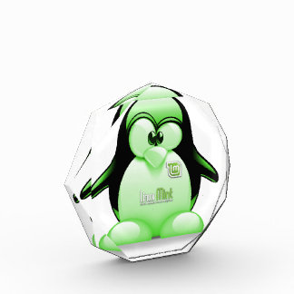 Linux Mint with Tux Logo Acrylic Award