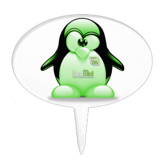 Linux Mint with Tux Logo Cake Topper