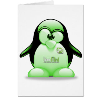 Linux Mint with Tux Logo Card