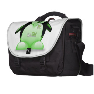 Linux Mint with Tux Logo Laptop Commuter Bag