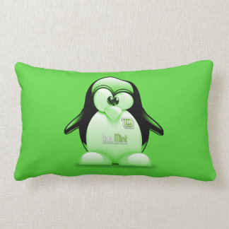 Linux Mint with Tux Logo Lumbar Pillow