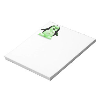 Linux Mint with Tux Logo Memo Notepads