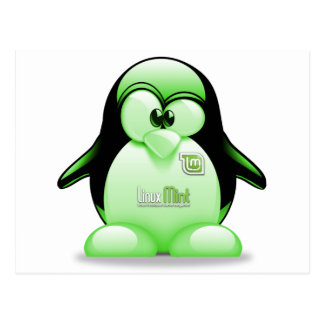 Linux Mint with Tux Logo Post Cards