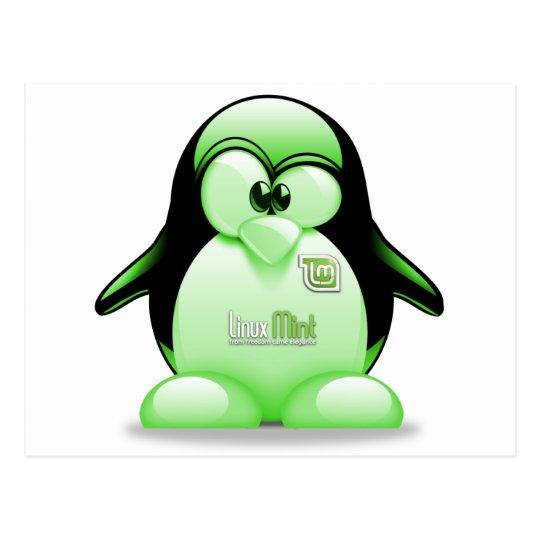 Linux Mint with Tux Logo Postcard