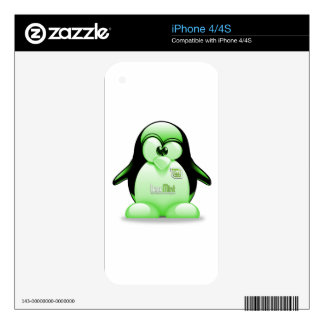 Linux Mint with Tux Logo Skins For iPhone 4