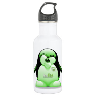 Linux Mint with Tux Logo Water Bottle