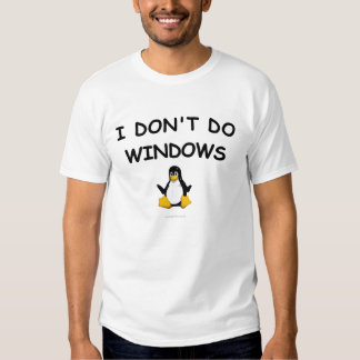 Linux - no hago la camiseta de Windows Playeras