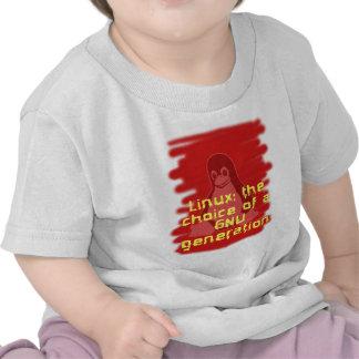 Linux Opción de una generación del GNU Camiseta