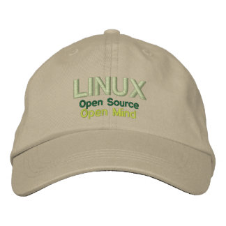 LINUX: Open Source, Open Mind Embroidered Baseball Cap