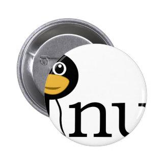 Linux Penguin! Pinback Buttons