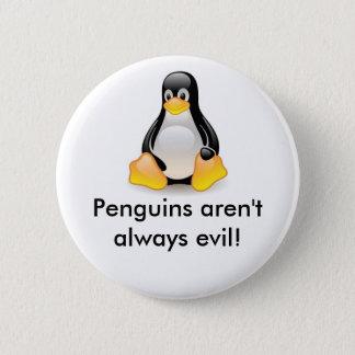 linux-penguin-tux pinback button