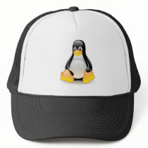 linux-penguin-tux trucker hat