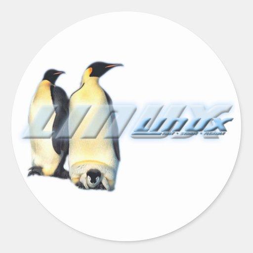 Linux Penguins Classic Round Sticker