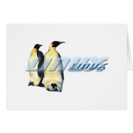 Linux Penguins Greeting Card