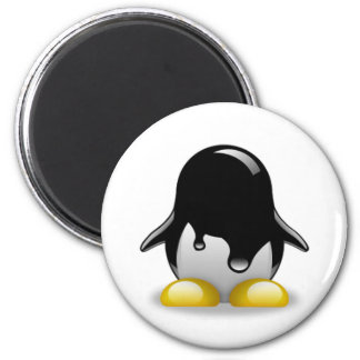 Linux Petrol 2 Inch Round Magnet