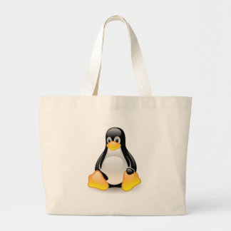 Linux-pingüino-Tux Bolsa Tela Grande