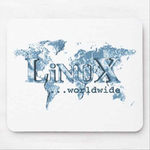 Linux por todo el mundo alfombrilla de ratón