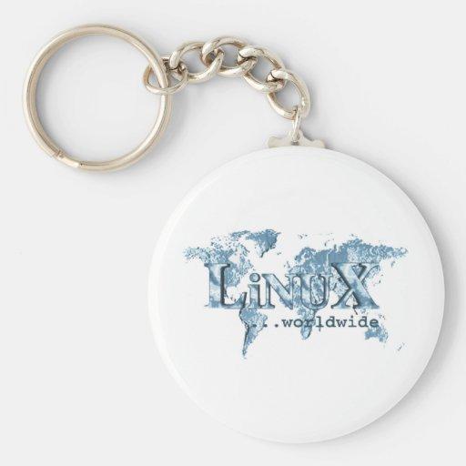 Linux por todo el mundo llaveros personalizados