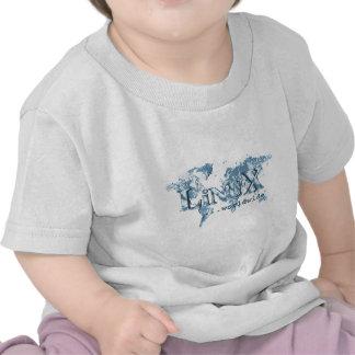 Linux por todo el mundo camisetas