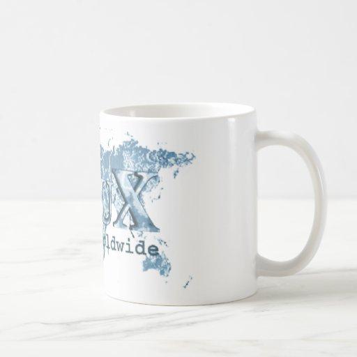 Linux por todo el mundo taza de café