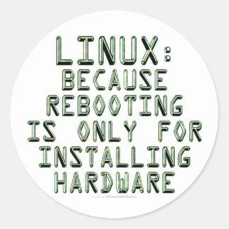 Linux Porque la reanudación está solamente para i Pegatina Redonda