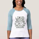 Linux: Porque la reanudación está solamente para i Camiseta