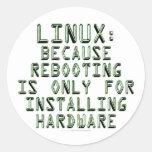 Linux: Porque la reanudación está solamente para Pegatina Redonda