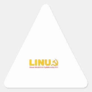 Linux porque Microsoft está para los capitalistas Colcomanias Trianguladas Personalizadas