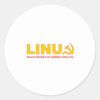 Linux porque Microsoft está para los capitalistas Etiqueta Redonda