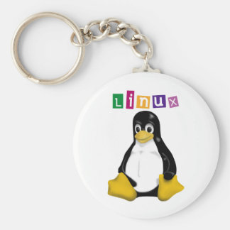 Linux Products & Designs! Basic Round Button Keychain
