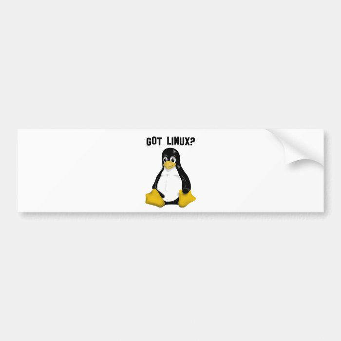 Linux Products & Designs! Bumper Sticker