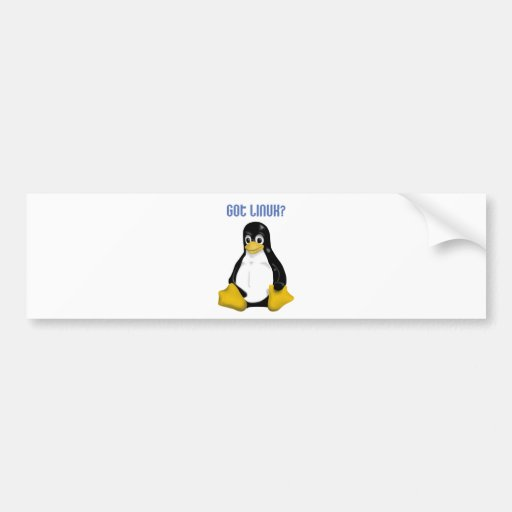 Linux Products & Designs! Car Bumper Sticker