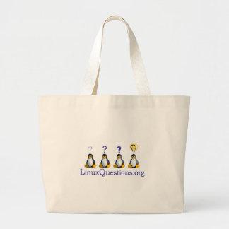 Linux Questions Logo Jumbo Tote Bag