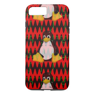 LINUX Red jigsaw Sine Waves iPhone 8 Plus/7 Plus Case