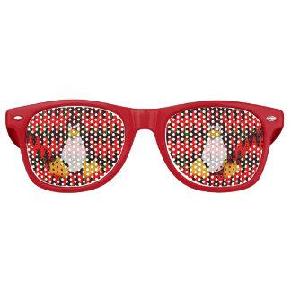 LINUX Red jigsaw Sine Waves Retro Sunglasses