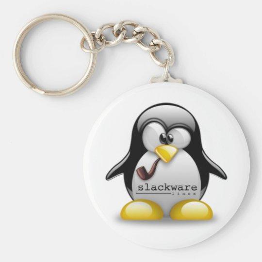 Linux Slackware Tux Keychain