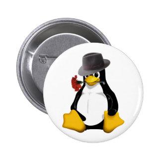 Linux tango pinback button