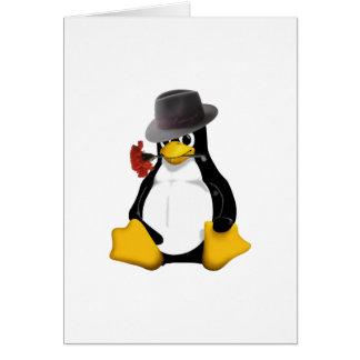 Linux tango greeting card