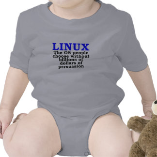 Linux. The OS people choose... Baby Bodysuit