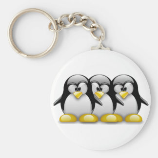 LINUX TUX BROTHERS KEY CHAINS
