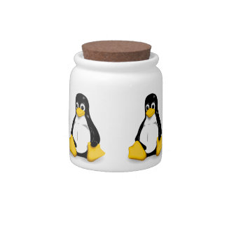 Linux Tux Candy Dish