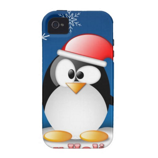 linux_tux_christmas_wallpaper.jpg iPhone 4 cover