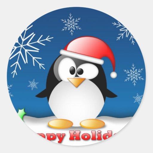 linux_tux_christmas_wallpaper.jpg pegatinas redondas
