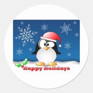 linux_tux_christmas_wallpaper.jpg pegatina redonda
