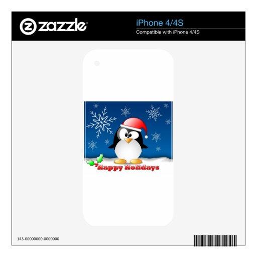 linux_tux_christmas_wallpaper.jpg calcomanía para el iPhone 4S