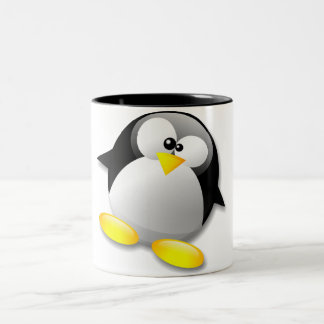 LINUX TUX CRYSTAL Two-Tone COFFEE MUG