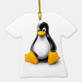 Linux Tux el pingüino Ornamento De Reyes Magos