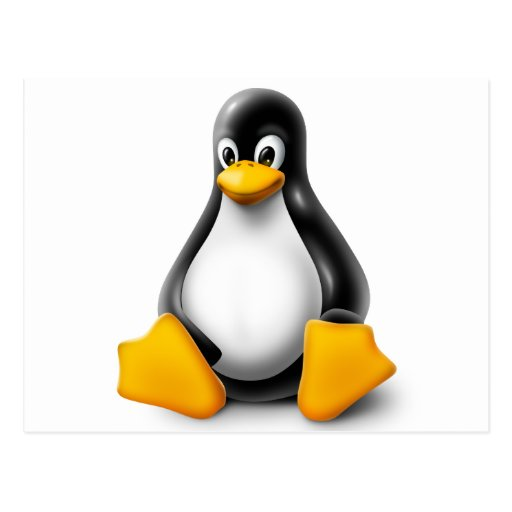 Linux Tux el pingüino Postal